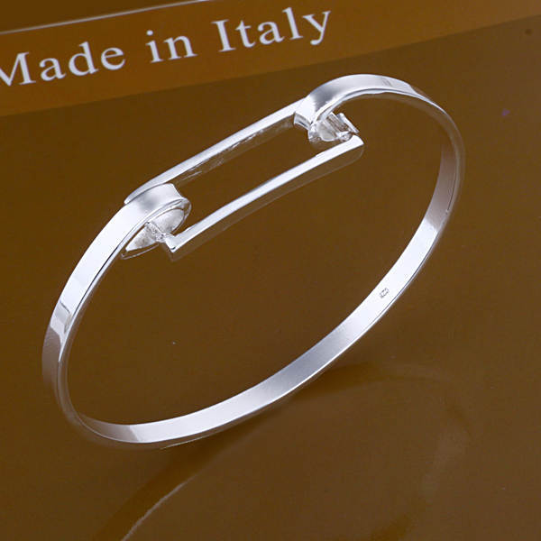 High Quality Sterling Silver Bangle Bracelet for Women Fashion Jewelry Wholesale