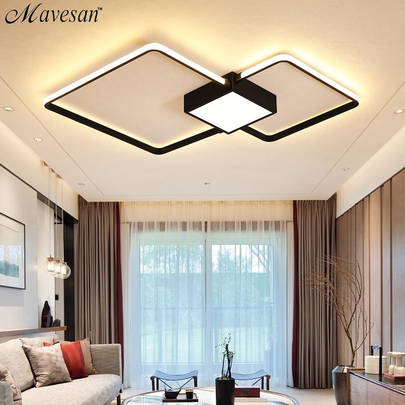 Led Wohnzimmer Decken Lampe Mit Fernbedienung Indoor Hause Führte Licht Decke Plafondlamp 90 V-260 V Für 15-25square Meter Deckenleuchten