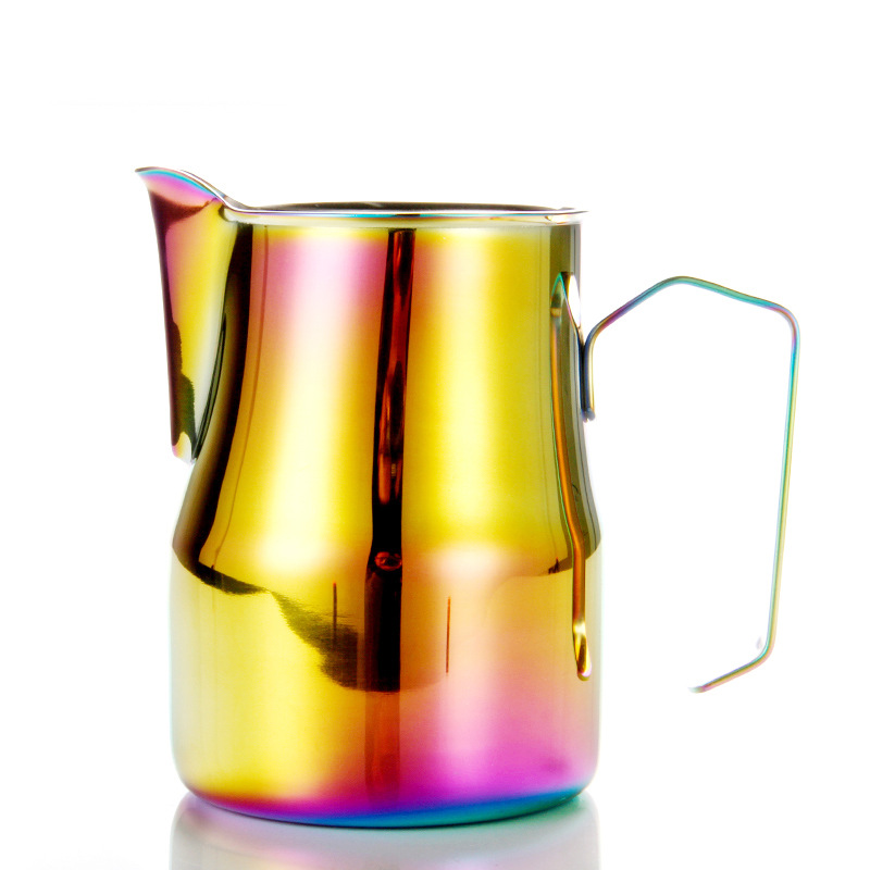 Colorful Stainless Steel Coffee Pitcher Espresso Latte Frothing Pitcher Milk Frothing Jug Coffee Latte Milk Frothing Jug Pitcher in Coffee Pots from Home Garden