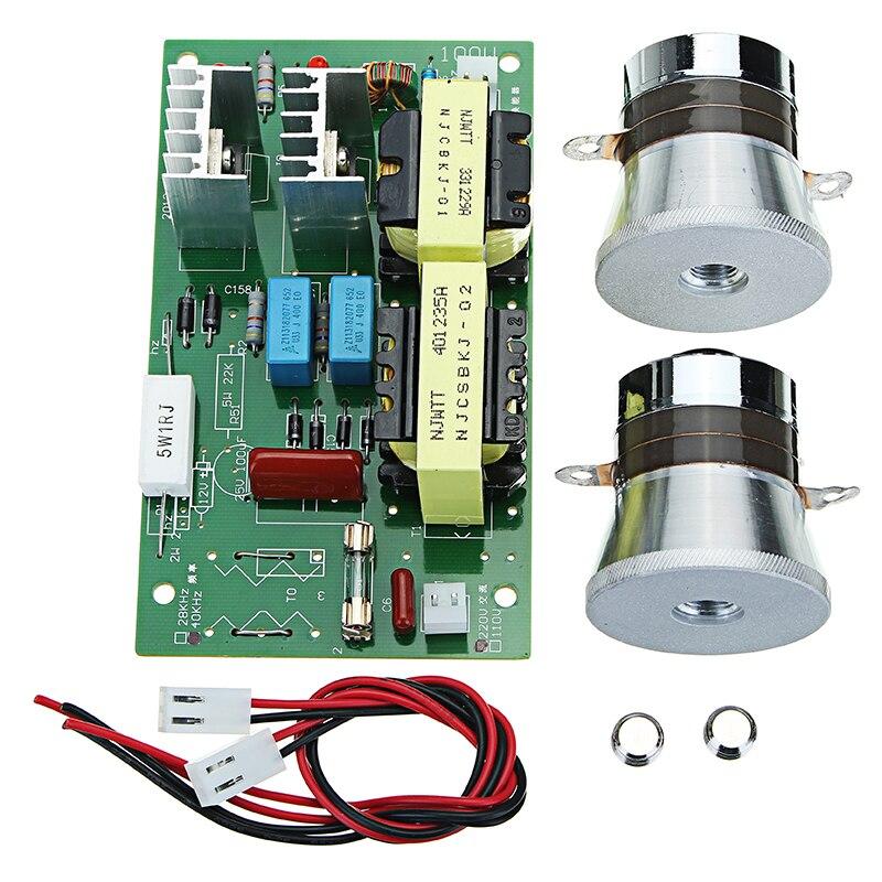 AC 220 В 60 Вт-100 Вт ультразвуковой очистки Мощность частоты водитель тестер доска с 2 шт. 50 Вт 40 кГц датчики Новый