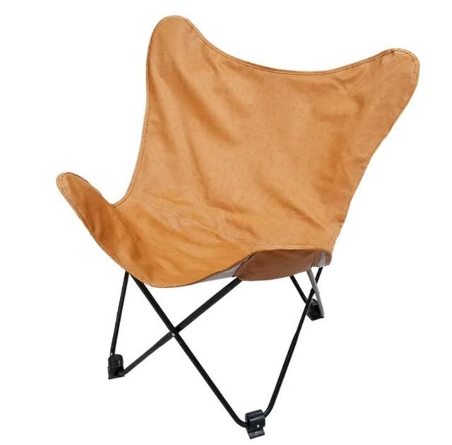 Portable Folding Erfly Chair Upholstery Browon Pu Leather Living Room Furniture Lightweight Foldable Leisure Accent
