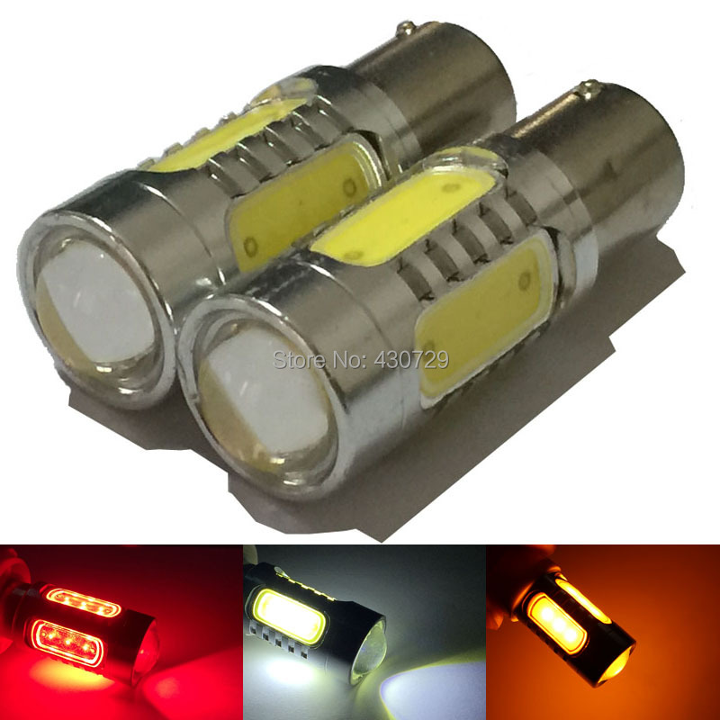 1156 BAY15S 7.5W 5 Led Car Fog Light Bulb PY21W COB Auto Turn Signal Brake Reverse Light Sources Lamps Red White Yellow cyan soil bay car auto t10 25w 30 led smd 4014 lamp parking reverse backup light w16w fog bulb ice blue red amber yellow white
