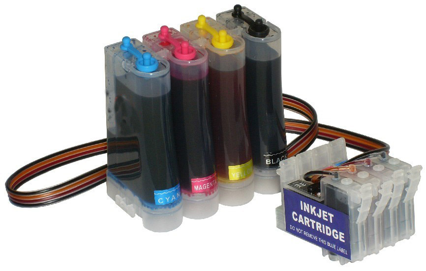 With pigment  ink Ciss Continuous Ink Supply System for Epson Stylus Series: CX3500/CX4500/C83/C65/C63 epson system epson stylus c63 continuous ink - title=