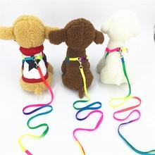 Hot Sell Adjustable Breakaway Rainbow Nylon Small Rabbit Cat collar leash breast-band Dog lead Harness set goods for Pets