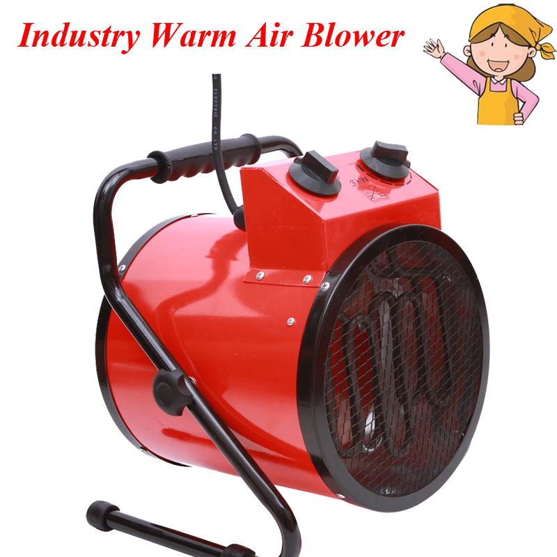 1pc 220V 3KW Warm Air Blower High Power Household Thermostat Industrial Heaters Electric Room Heater The Bathroom Dryer BJAS-032 midea 220v warm air blower waterproof electric heater 3 gear temperature