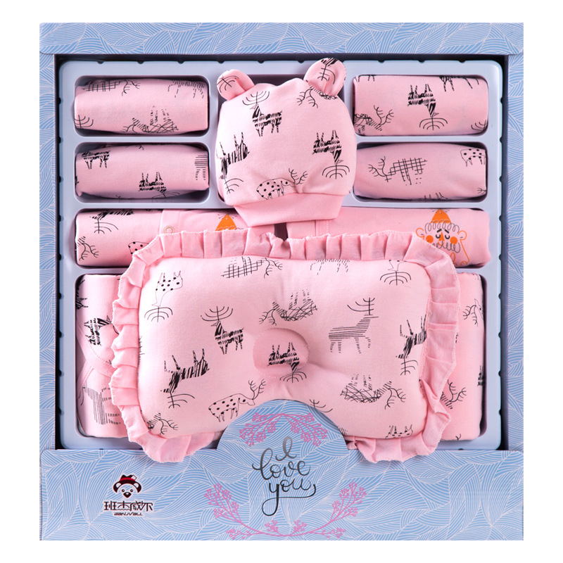 Newborn Baby Clothing Set Gift Baby Girl Boy Clothes 19 Pieces Infant Baby Clothing For Spring & Autumn Cotton Toddler Clothes