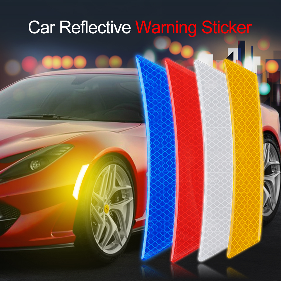 Car Safety Warning Sticker Mark Bike Helmet Car Reflective Door Stickers Tape Reflective Strips Car-styling Exterior Accessories