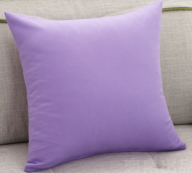 Purple Color Sofa Cushion Covers Solid Color Throw Pillows Cases 45X45cm  Soft Decorative Pillows Covers Minimalistic