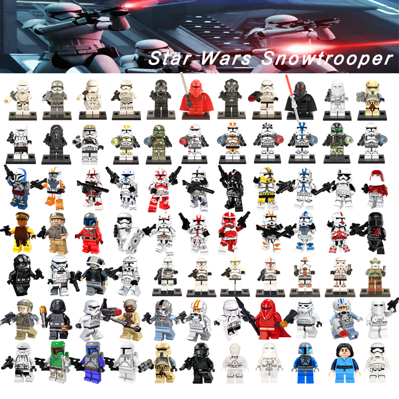 1Pcs Legoelys Star Wars Figures Han Solo Aayla Secura Ahsoka Tano Army Storms Ewok Troopers Clone Troopers Building Block Toys