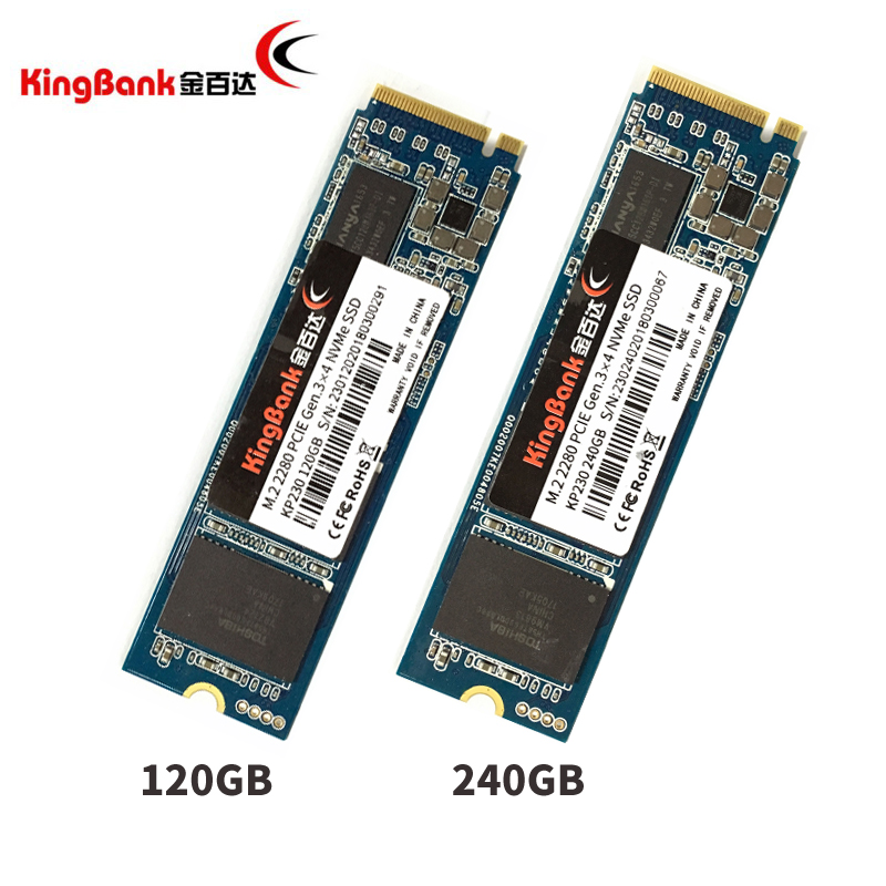 KingBank KP230 120GB 240GB 120G 240G M.2 2280 PCIE GEN 3X4 NVMe SSD PC Desktop Laptop Server Internal PC Solid State Drive SSD