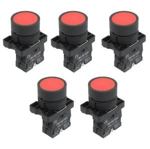 22mm 1 NC N/C Red Sign Momentary Push Button Switch 600V 10A ZB2-EA42