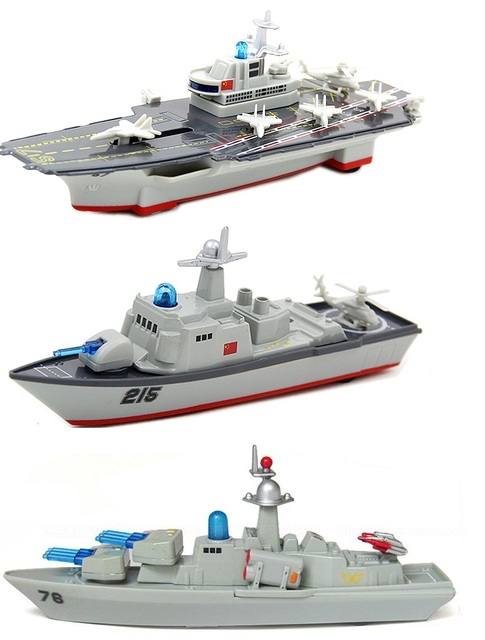 Alloy aircraft carrier ship model warship destroyer force back sound and light alloy model toy boat