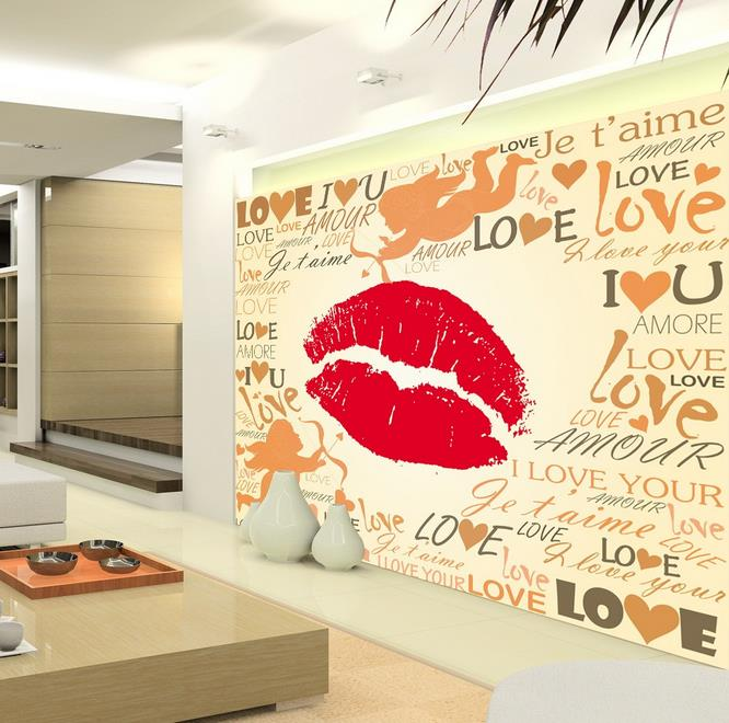 3d wallpaper custom photo hd mural big red lips love words3d wallpaper custom photo hd mural big red lips love words background murals kids\u0027 room tv sofa bedding room hotel living room in wallpapers from home