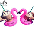 Inflatable Flamingo Water drink Sets Cup Holder Mobile Phone Holder Home Decor Toys
