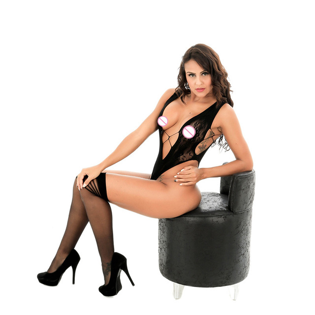 Sexy underwear girl black