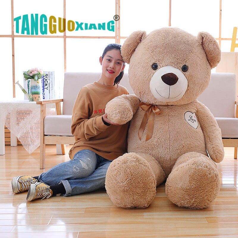 90 110 Cm Lembut Besar Bayi Lucu Teddy Bear Boneka Mewah Mainan Beruang Yang Indah Boneka Gadis Anak Ulang Tahun Anak Anak Hadiah Natal Stuffed Plush Hewan Aliexpress