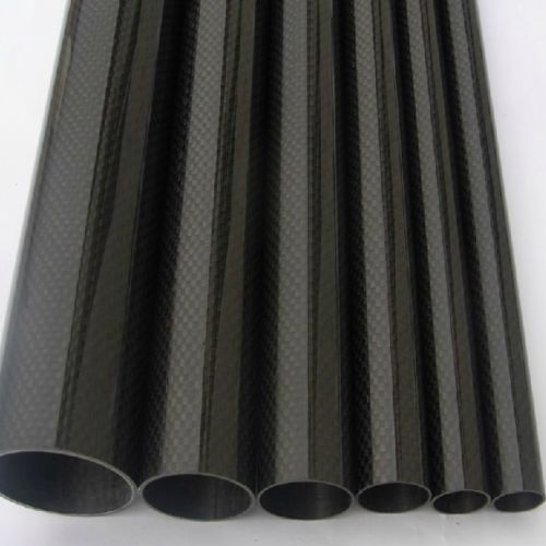 2pcs/lot Roll Wrapped Carbon Fiber Tube 3K 10mm*12mm*500mm High Glossy 1pcs carbon tube black 50 52 4mm 3k glossy 500mm long100