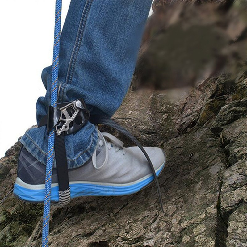 Outdoor Mountaineering Rock Climbing Foot Rope Ascenders Safety Anti-dropping Protector Accessory wall climbing accessories