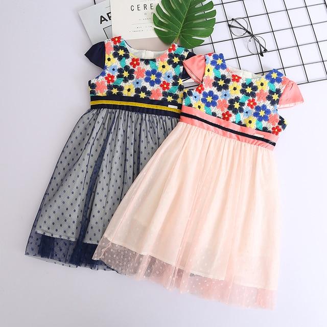 32a342ee4 Beautiful Girls Summer Floral Princess Dress Children's Party Dress Kids  Ball Gown Polka Dot Toddler Girls Clothes Wholesale