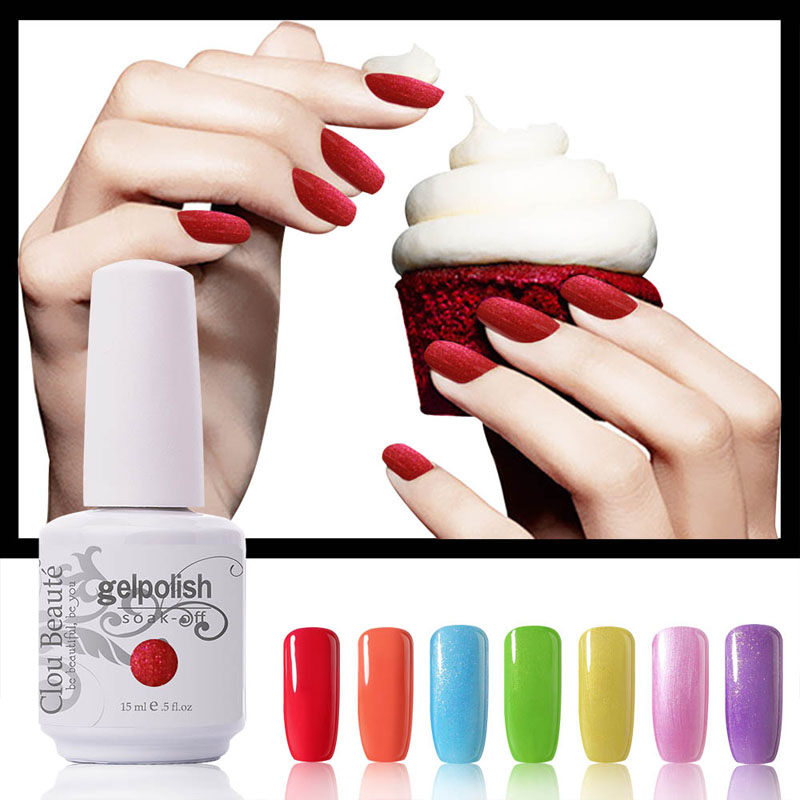 Hermosa 220 colores 15 ml Clou Beaute Elija 1 color Nail Art Paint UV Gel Lámpara Led Nail Gel Color Soak Off Gel Polish