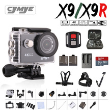 Cymye экшн-камеры X9/X9R Ultra HD 4 К Wi-Fi 1080 P 60fps 2.0 ЖК-дисплей 170D