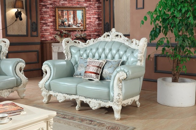 luxury European leather sofa set living room sofa China wooden frame sectional sofa 1+2+3