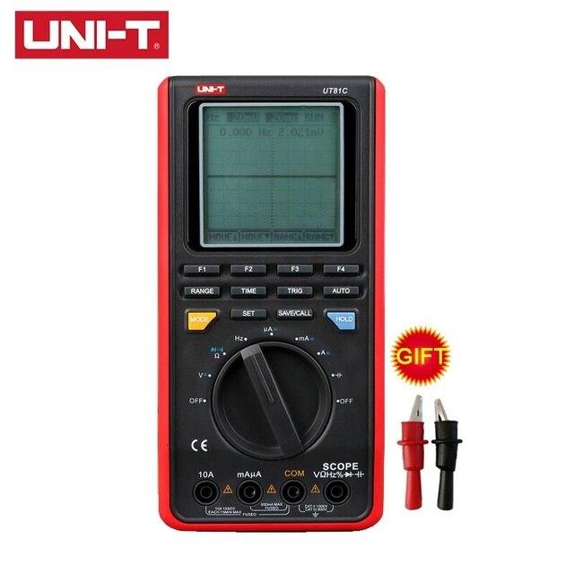 UNI T UT81B UT81C Handheld Oscilloscope Digital Multimeter Real Time Sample Rate AC DC Resistance Capacitance Frequency Meter