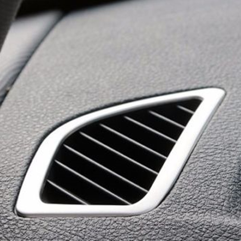 BBQ@FUKA Auto Car Stainless Steel <font><b>Interior</b></font> Air Vents/Outlet Decal Cover Trim Styling Sticker Fit for <font><b>BMW</b></font> F20 <font><b>116i</b></font> 118i image
