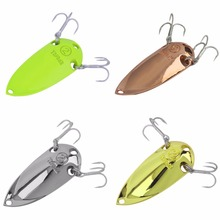 YAPADA Spoon Lure 10g/15g/20g/25g Metal Fishing Lures Bait Hard Sequin Paillette Isca Artificial with Treble Hook