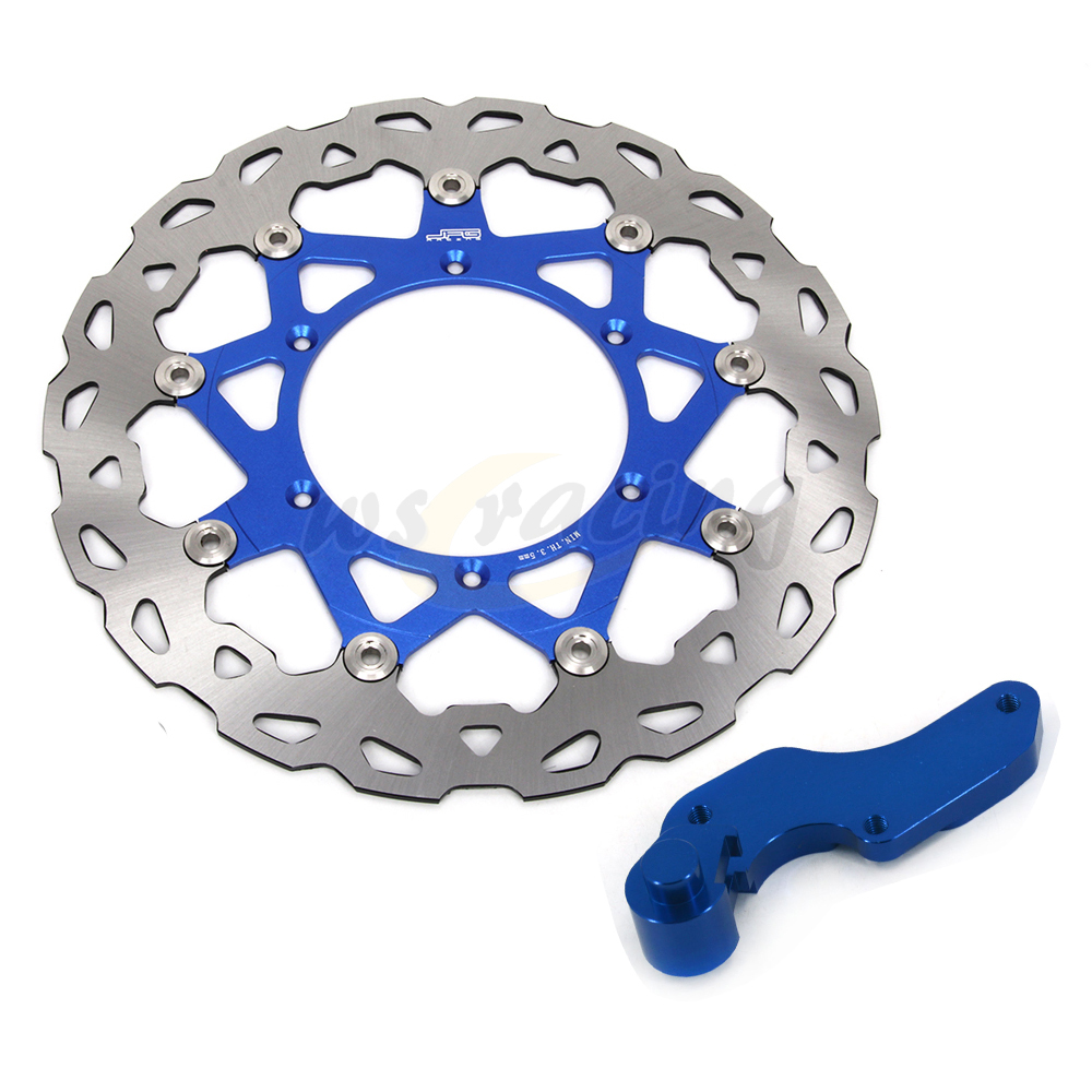 Blue CNC 320MM Motorcycle Front Floating Brake Disc & Bracket For YAMAHA YZ426F 00-02 WR450F 03-15 YZ450F 03-07 YZF450
