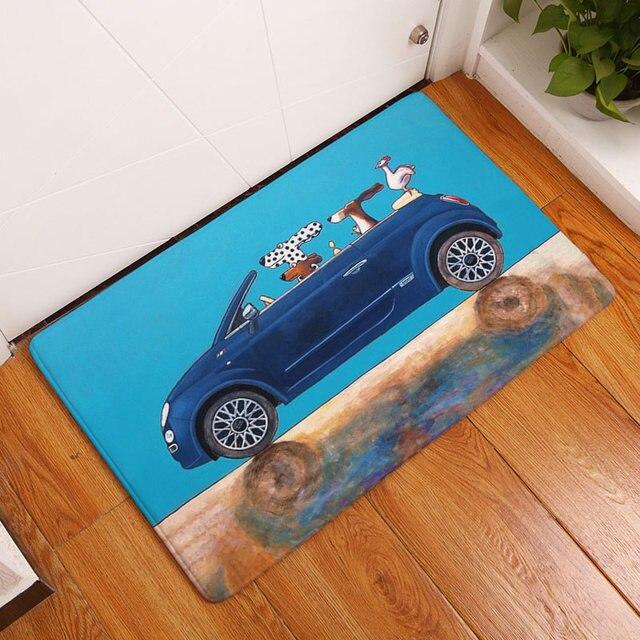 Cartoon Honden & Cars Afdrukken Tapijten Antislip Vloermat Voor ...
