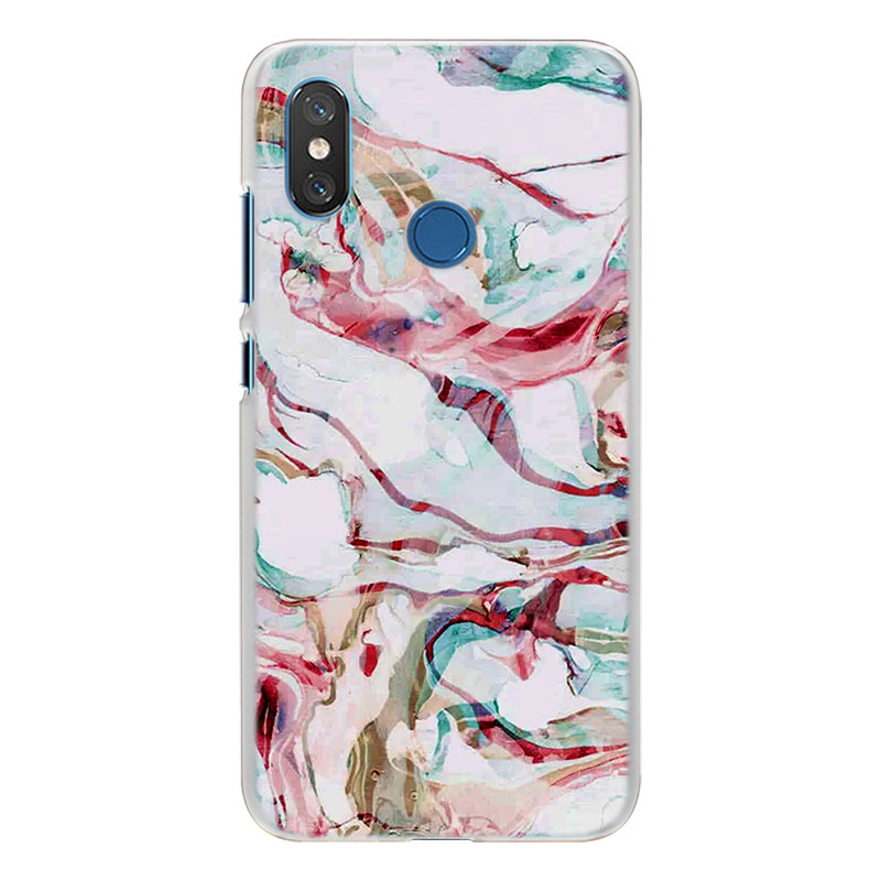 Luxury Marble Rose Gold Marble Pattern Transparent Hard Case Cover For  Xiaomi Mi A1 A2 5X 6X 8 8SE For Redmi 6 6A 5 5A Note 4 4X