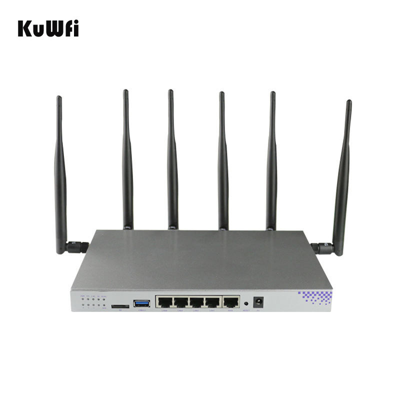 4g SIM Card Wifi Router OpenWrt 1200 Mbps 2.4g 5g Dual Band MT7621 Gigabit Porta di ACCESSO Wireless router con 6 Antenne Wifi Ripetitore