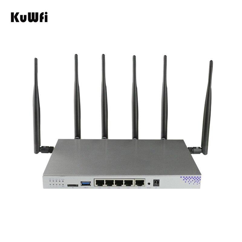 4g SIM Carte Wifi Routeur OpenWrt 1200 Mbps 2.4g 5g Double Bande MT7621 Gigabit Port Sans Fil AP routeur avec 6 Antennes Wifi Répéteur