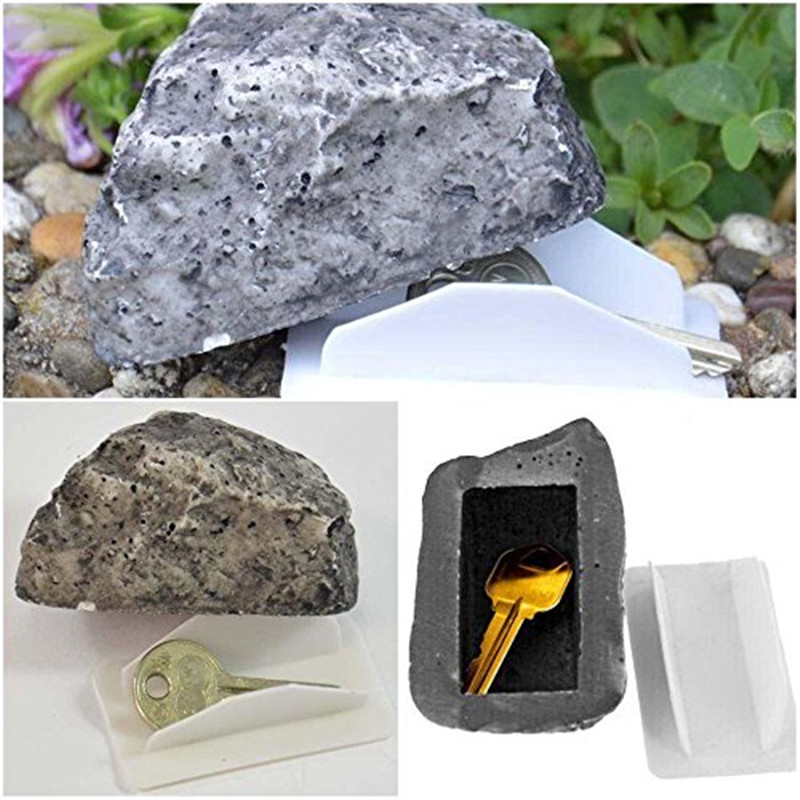 Fake Stone Resin Key Box Holder Rock Hidden Hide In Stone Security Safe Storage Hiding Outdoor Key Organizer for Treasure Game