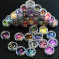 35 bottle Nail Art Round Sets Fashion Thin Mini 1-3mm Paillette Glitter Nails Tips Sparkly DIY Craft Sticker Mixed Colors P1-35