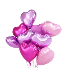 18 Inch Muticolor heart balloon Color Decoration Birthday Party Arrangement Supplies Aluminum Balloon