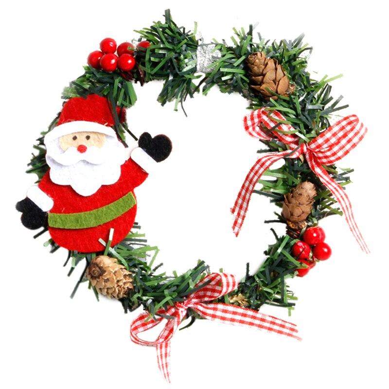 2pcs plastic christmas wreath garland christmas for Home and garden christmas decoration ideas