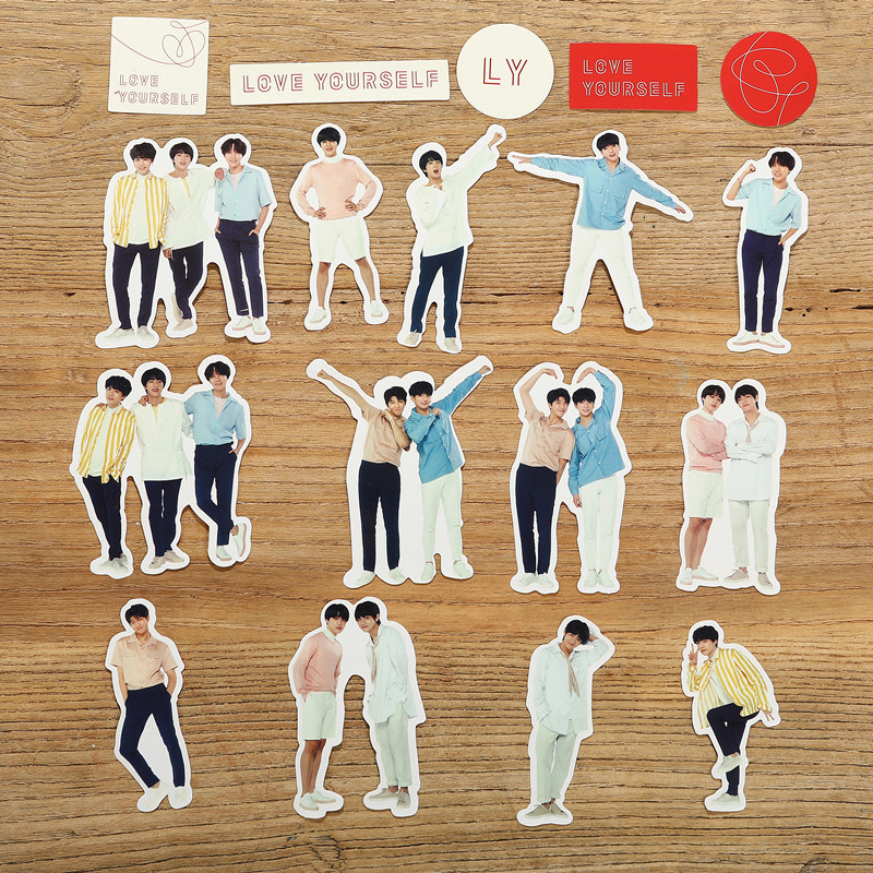 Toys & Hobbies Knowledgeable Hot 18pcs/set Kpop Diy Decal Stickers Superstar Jungkook V Jin Rm Suga Jeon Jung Kook Facial Expression Decal Stickers Scrapbook Classic Toys