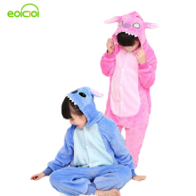 Stitch pajamas for kids totoro cat girls boys christmas pajamas set warm animal onesie children's sleepwear child animal pajamas