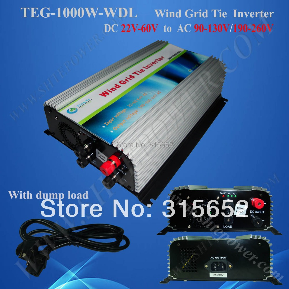 1000W DC 22V-60V Input Grid Tie Pure Sine Inverter for Wind Generator solar power on grid tie mini 300w inverter with mppt funciton dc 10 8 30v input to ac output no extra shipping fee