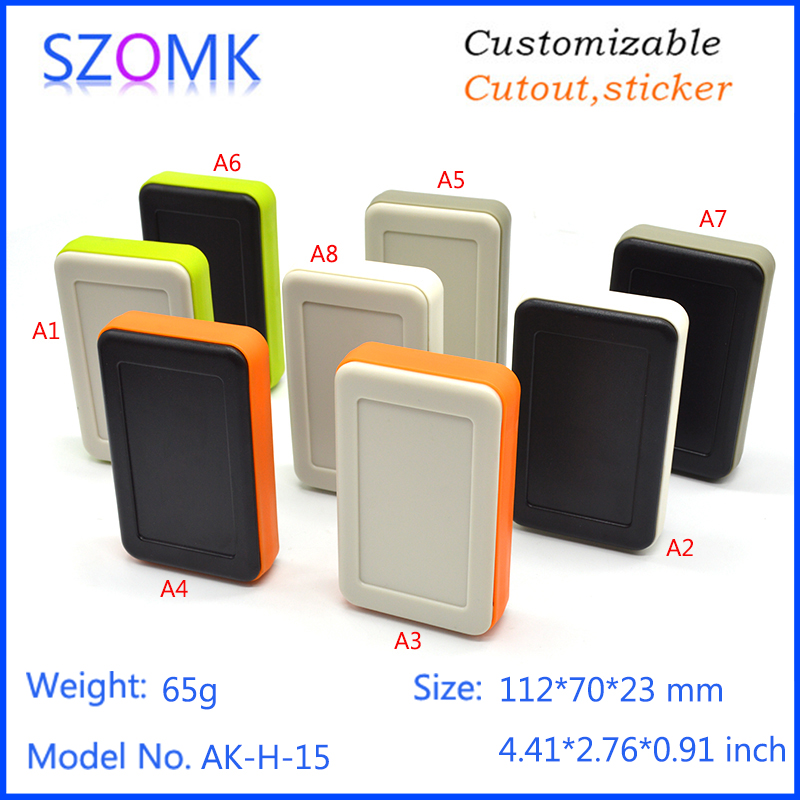 1 piece, electronics handheld plastic enclosure 112*70*23mm electrical project box, handheld enclosure electronics 2014 new