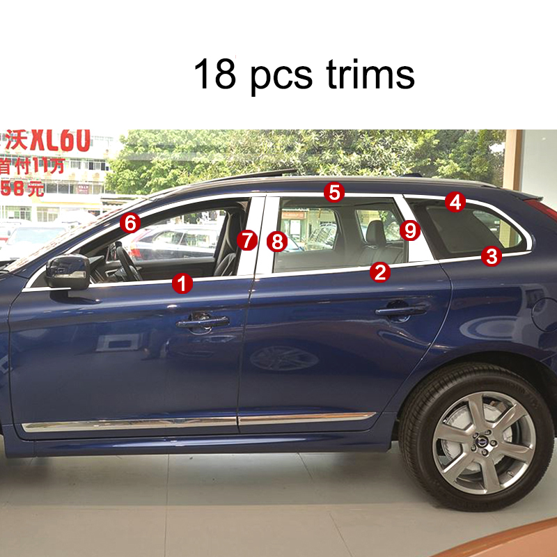 lsrtw2017 304 stainless steel car window trims for volvo xc60 2009 2010 2011 2012 2013 2014 2015 2016 2017 1st generationlsrtw2017 304 stainless steel car window trims for volvo xc60 2009 2010 2011 2012 2013 2014 2015 2016 2017 1st generation