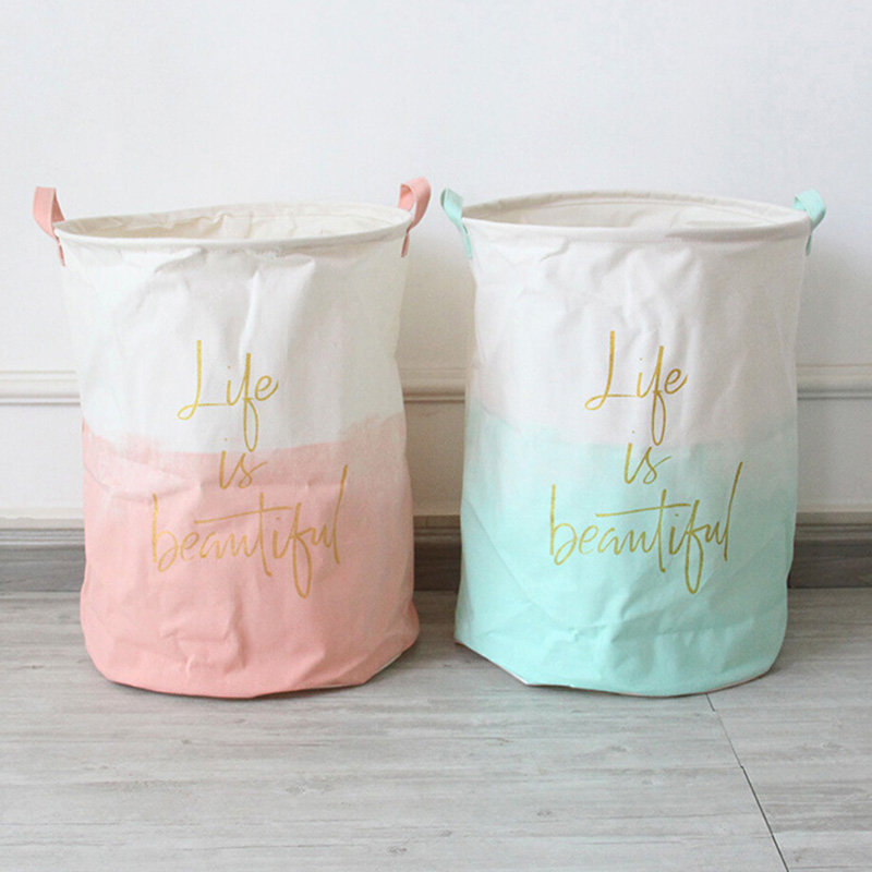 Hogar plegable organizador Bin almacenamiento organizador bolsa de lavandería cesta cubo para ropa sucia cesta de la ropa 2019