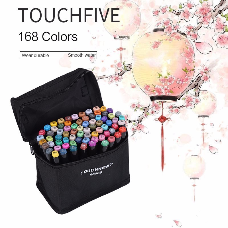 TOUCHNEW 30/40/60/80 Colors Alcohol Based Markers For Manga sketch Markers Set Material For Drawing Art Supplies sta 12 24 colors brush pen set water based ink twin tip watercolor markers pen drawing for manga school art supplies rotulador