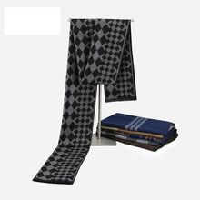 Men Tartan Scarf Winter Luxury Brand Cashmere Scarf Acne Studios Chic Pattern Scarfs Male Echarpes YJWD712