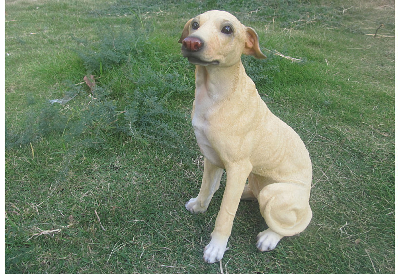 18*12*23cm Big Size Creative Resin Dog Status Sculpture Craft Ornament Home Garden Room Desk Decoration Artificial Greyhound Dog