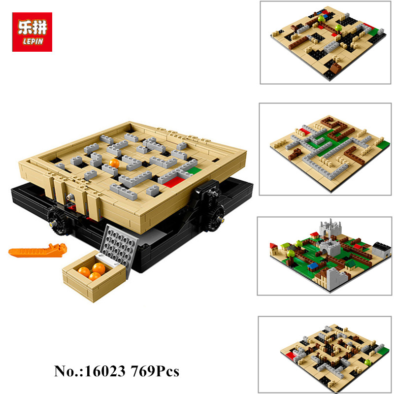 PRESELL LEPIN 16023 769Pcs IDEAS Series The Creative Marbles Maze Model Building Blocks set Bricks Toys For Childrens 21305