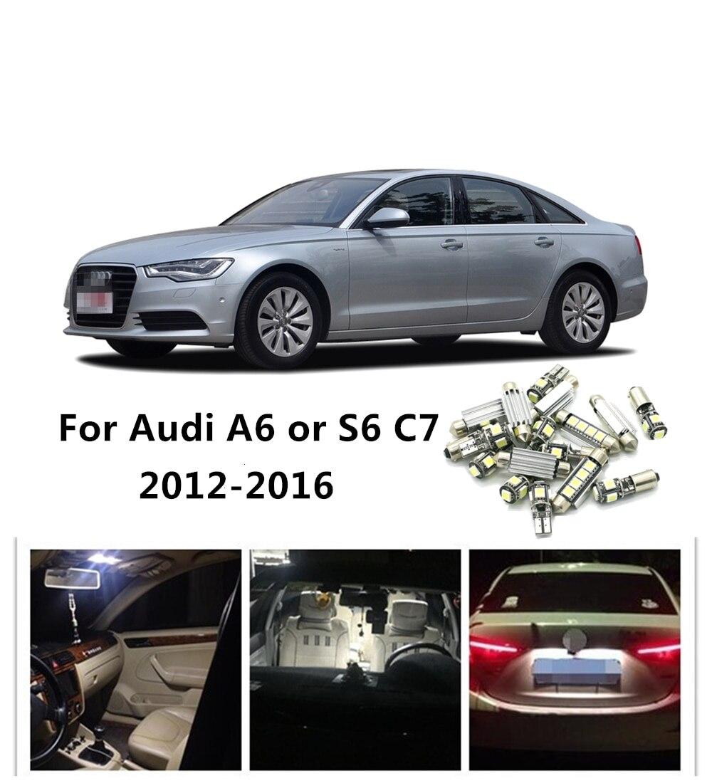 JGAUT 14pcs White Red Blue For Audi A6 S6 C7 2012 2016