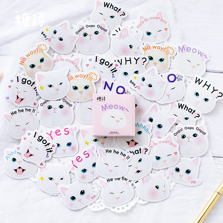 Mohamm Meow Cat Cute Paper Diary Decorative Diy Sticker Scrapbooking Japanese Stationery